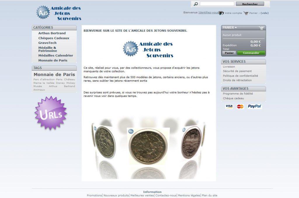 Site de vente AJS