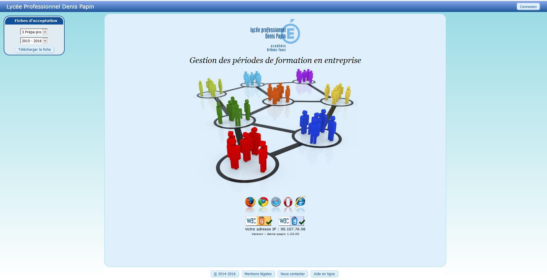 Logiciel Web PFMP.fr